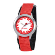 Red Balloon Kids Time Teacher Red Nylon Strap Watch