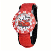 Disney Cars Kids Time Teacher Red Nylon Strap Watch