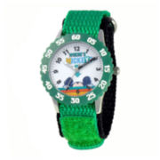 Disney Mickey Mouse® Kids Time Teacher Green Nylon Fast Strap Watch