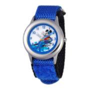 Disney Mickey Mouse® Kids Time Teacher Blue Nylon Fast Strap Watch