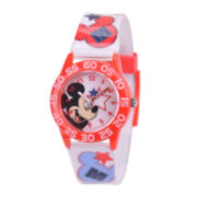 Disney Mickey Mouse® Kids Time Teacher Print Strap Watch