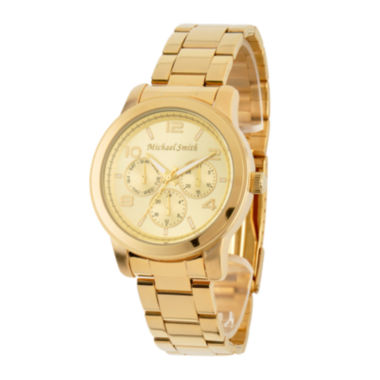 jcpenney.com | Personalized Dial Gold-Tone Stainless Steel Watch