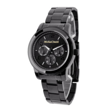 jcpenney.com | Personalized Dial Black Stainless Steel Watch