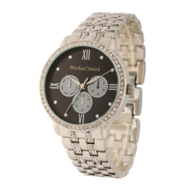 jcpenney.com | Personalized Dial Womens Silver-Tone Bracelet Watch