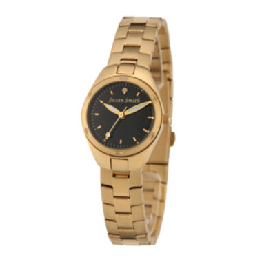 jcpenney.com | Personalized Dial Womens Gold-Tone Stainless Steel Bracelet Watch