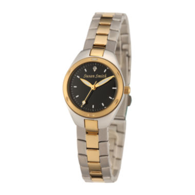 jcpenney.com | Personalized Dial Womens Two-Tone Stainless Steel Bracelet Watch