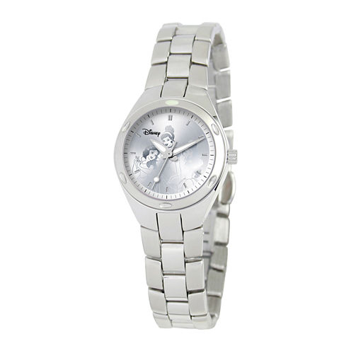 Disney Princess Womens Stainless Steel Bracelet Watch