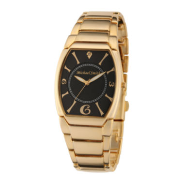 jcpenney.com | Personalized Dial Mens Diamond-Accent Gold-Tone Watch