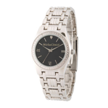 jcpenney.com | Personalized Dial Mens Diamond-Accent Silver-Tone Watch