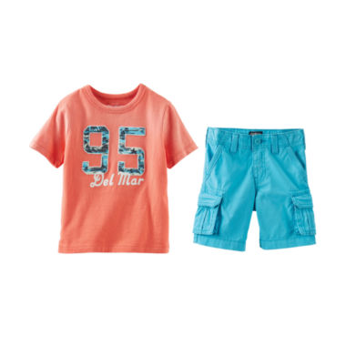 jcpenney.com | OshKosh B'gosh® Graphic Tee or Cargo Shorts - Toddler Boys 2t-5t