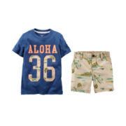 Carter's® Graphic Tee or Island-Print Shorts - Toddler Boys 2t-5t