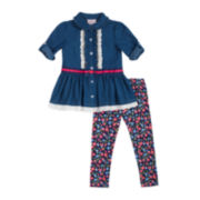 Little Lass Tunic and Leggings Set - Toddler Girls 2t-4t