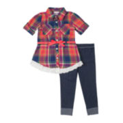 Little Lass Tunic and Jeggings Set - Preschool Girls 4-6x