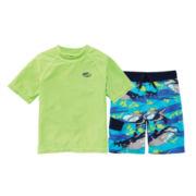Arizona Rash Guard or Shark Swim Trunks - Boys 8-20