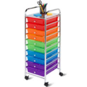 Honey-Can-Do® 10-Drawer Multicolor Rolling Storage Cart