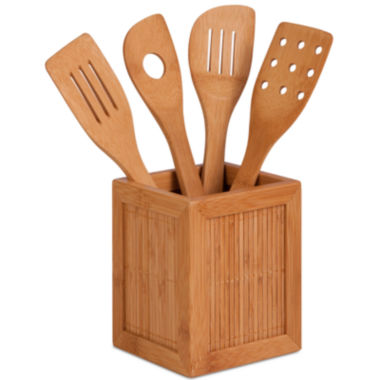 jcpenney.com | Honey-Can-Do® Bamboo Utensils and Caddy