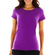 St. John's Bay® Essential Relaxed Fit Short-Sleeve Crewneck T-Shirt
