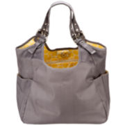 JP Lizzy Slate Citron Satchel Diaper Bag