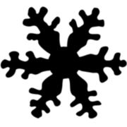 Tim Holtz® Red Rubber Stamp, Snowflake Silhouette