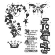 Tim Holtz® Cling Rubber Stamp Set, Fairytale Frenzy
