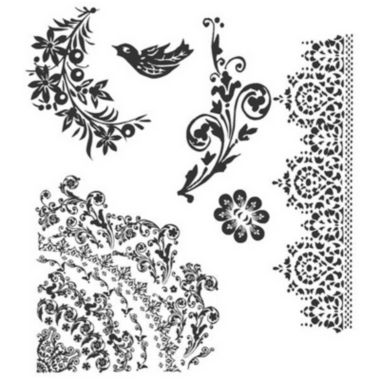 jcpenney.com | Tim Holtz® Cling Rubber Stamp Set, Floral Tattoo