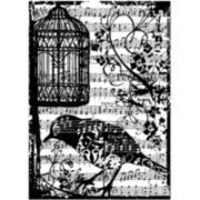 Tim Holtz® Cling Rubber Stamp, Birdsong