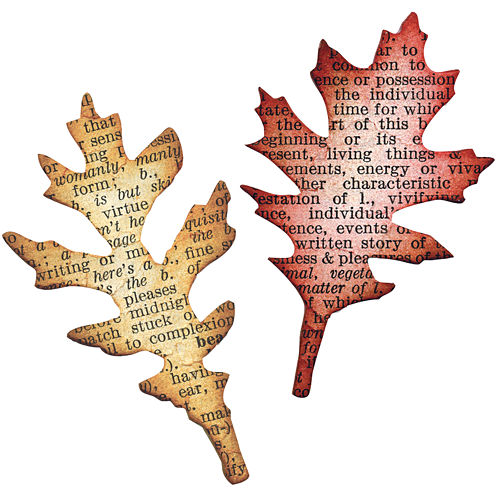 Sizzix® Movers & Shapers Magnetic Dies by Tim Holtz® 2-pk. Tattered Leaves