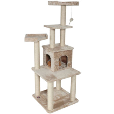 "jcpenney.com | Majestic Pet 64"" Casita Faux Fur Cat Tree"