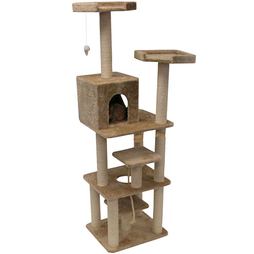 "Majestic Pet 78"" Casita Faux Fur Cat Tree"