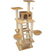 "Majestic Pet 72"" Casita Cat Tree with Stairs"