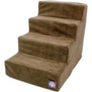 Majestic Pet 4-Step Faux Suede Pet Stairs
