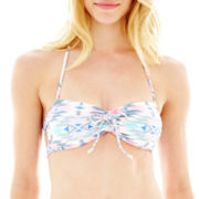 Arizona Tribal Print Braided-Back Bandeau Swim Top