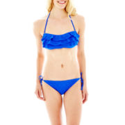 Arizona Ruffled Bandeau Bra Swim Top or Hipster Bottoms