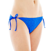 Arizona Side-Tie Keyhole Hipster Swim Bottoms - Juniors