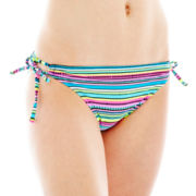 Arizona Striped Keyhole Hipster Swim Bottoms - Juniors