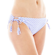 Arizona Chevron Print Keyhole Hipster Swim Bottoms