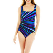 Robby Len by Longitude® Panel Print 1-Piece Swimsuit