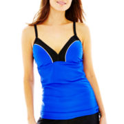 Free Country® Colorblock Adjustable Tankini Swim Top