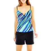 Free Country® Striped Tankini Swim Top or Drawstring Shorts