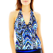Free Country® Tribal Print Halterkini Swim Top