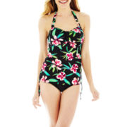 St. John's Bay® Halterkini Swim Top or High-Waist Bottoms