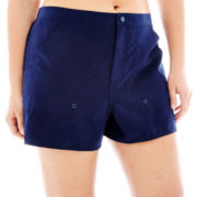 Azul by Maxine of Hollywood Woven Swim Shorts - Plus