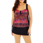 Delta Burke® Tankini Swim Top or Skirted Bottoms - Plus