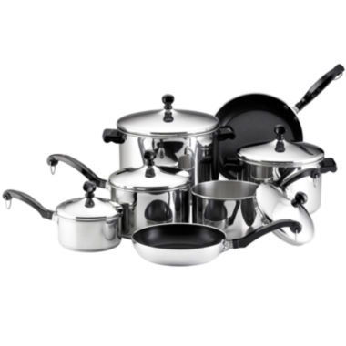 jcpenney.com | Farberware® Classic Series 15-pc. Stainless Steel Cookware Set