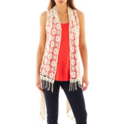 i jeans by Buffalo Crochet Fringe Vest
