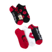 5-pk. Betty Boop No-Show Socks