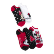 Disney 5-pk. Minnie No-Show Socks