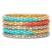 Decree® 5-pc. Multi-Tone Stretch Metal Mesh Chain Bracelets