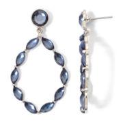 Arizona Blue Glitter Teardrop Earrings