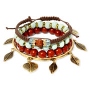 Arizona 5-pc. Assorted Bracelet Set with Leaf Accents